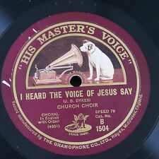 78rpm I HEARD THE VOICE OF JESUS SAY / eternal father strong to save B1504