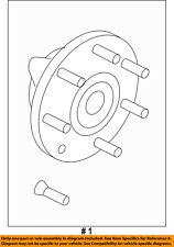 FORD OEM 04-05 F-150 Brake-Front-Wheel Hub & Bearing 4L3Z1104AB