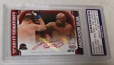 Anderson Silva Signed 2015 UFC Champions Scarlet Signatures Auto Card PSA/DNA 45