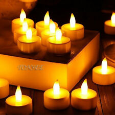Flameless LED Candle Solar Powered Flickering Lights Lamp Home Party Decor