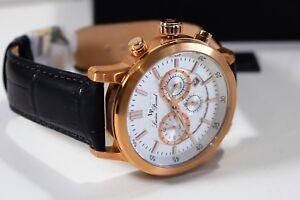 Lucien Piccard Men's Monte Viso Chronograph White Dial Watch 12011-RG-02S