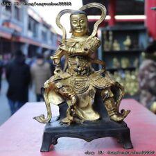 China Copper Gilt Taoist priest rycunhua Xuan tian shang di Xuan wu da di Buddha