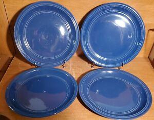 "Mainstays STADIUM BLUE Dinner plate set(s) of 4, 10 3/4"", Stoneware, Very good"