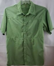 Lowe Alpine Short Sleeve Men's Size Medium Button Front Shirt Fishing Sports