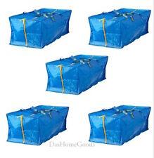 IKEA FRAKTA 5 X Large Blue Zippered Bag Shopping Laundry Storage Tote Bags