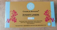 NEW Charlie Banana Reusable Washable Feminine Pads 3 Liners With Pouch
