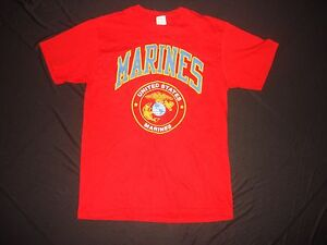 UNITED STATES MARINES Medium Size Cotton T-Shirt Red Color, Never Worn