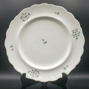 """Early Adams Sprigware Pearlware Staffordshire Plate Soft Paste 10.5"""" Sprig"""
