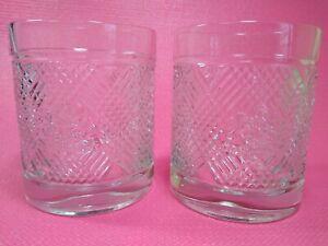 2 RALPH LAUREN  ARGYLE  Double Old Fashioned Rocks Whiskey Glass Lion Crest
