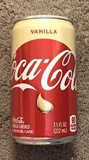 2019 Coca-Cola Vanilla Can US Mini Size 7.5 FL OZ 222 ML RARE; BRAND NEW!!