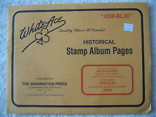 "2000 WHITE ACE STAMP ALBUM SUPPLEMENT "" USR-BL31 "" USA REGULAR ISSUE BLOCKS"