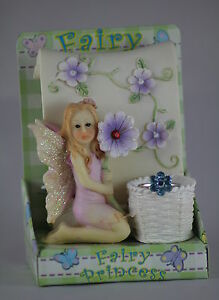 8.5cm FAIRY with SCROLL, RINGHOLDER & RING - CHILD'S JEWELLERY - MYTHICAL GIFT