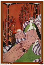 Art Deco - Vogue - Poster/Print/  'Woman Reclining' Poster/13x19 inch