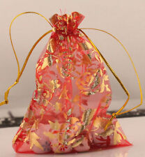 100pcs Organza Bags Jewellery Christmas Packing Pouches Wedding Party Favour