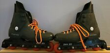 Rollerblade Zetra 303 Mens Fitness Inline Skates, Size 12 - Black and Orange FUN