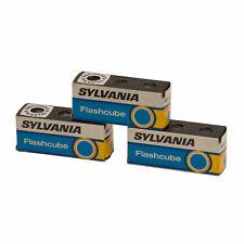 3 x 3 Flashcubes Sylvania Blitzwürfel Fotoblitz Fotolampe