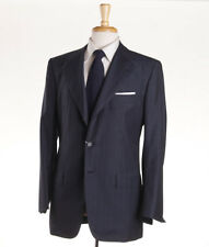 NWT $8495 KITON NAPOLI Dark Gray Stripe Year-Round Wool Suit 38 R (Eu 48)