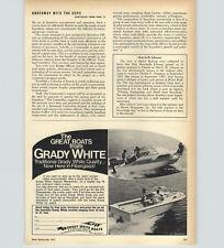 1970 PAPER AD Grady White Motor Boats Atlantic Weekender Cabin Cruiser 19'