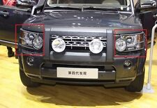 2pcs For 2010-2013 Land Rover LR4 Discovery 4 Front Head Light Lamp Guards Cover