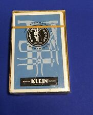 Playing cards vintage Klein Tools unopened pack poker size Made in USA advertise