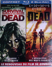 """2 BLU-RAY Coffret """"Survival Of The Dead + The Dead"""" NEUF SOUS BLISTER"""