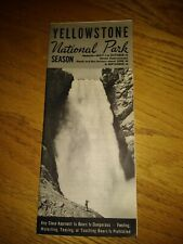 VINTAGE YELLOWSTONE NATIONAL PARK BROUCHER 1949 NICE CONDITION RARE
