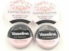 2 Vaseline Limited Edition Lip Therapy tin 0.6 oz - PINK BUBBLY