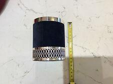 Portapenne argento 925/°°° velluto blue nuovo con base rombi diametro cm 8,00