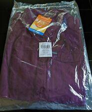 NEW COLUMBIA PFG Women's Silver Ridge LS Shirt Medium 8-10 Black Cherry Top NWT