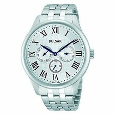 Pulsar Round Silver Band Wristwatches