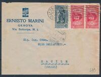 REGNO 1932 storia postale BUSTA pubblicita' GENOVA PER SACILE FRIULI  - 333