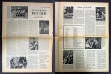 Ben-Hur - William Wyler - Charlton Heston - Film Presse Zeitung (Y-8671+