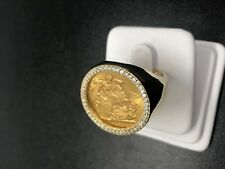 0.55 CARAT MENS DIAMOND SOVEREIGN RING YELLOW GOLD