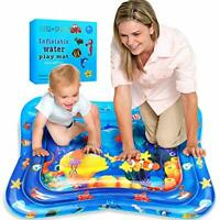Large Inflatable Water Play Mat Fun Tummy Time Play Activity Center for Infants