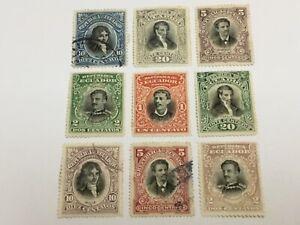 old stamps  ECUADOR    x  9