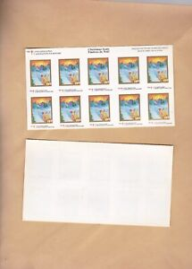 Canada - Christmas Seals 1999. VF. Full Sheet of 10. mint