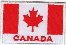 Aufnäher Bügelbild Iron on Patches Flagge Fahne Canada Kanada Nation Land(a3t3)