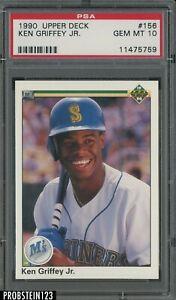 1990 Upper Deck #156 Ken Griffey Jr. Mariners HOF PSA 10 GEM MINT