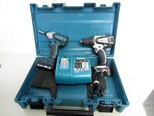 MAKITA Set Cordless Drill & Driver LXFD01 74LJ Battery BL1815 Charger DC18RA EUC