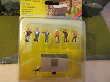 Noch (HO 1:87)  Construction Site Trailer w/ 6 Workers - #12010