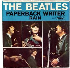 "BEATLES - Vintage 1966 ""Paperback Writer / Rain"" - 7"" 45 RPM with Picture Sleeve"