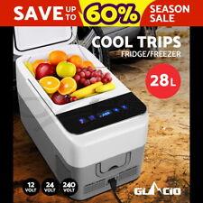 Glacio 28L Portable Fridge Freezer Cooler Refrigerator Camping Caravan Boat LED