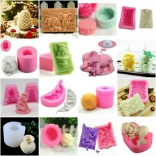 3D Silicone Cake Fondant Chocolate Baking Mold Soap Candle Wax Making Mould Tool