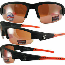 BALTIMORE ORIOLES DYNASTY 2 SUNGLASSES HD AMBER DRIVING LENS BY MAXX EYEWEAR