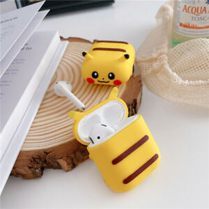 Cute Cartoon Yellow Pika Earphone Cases Silicone Cover For Apple Airpods 1 2