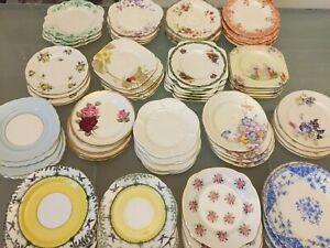 Vintage Bone China Tea Side Plates Shelley Foley Aynsley Paragon SETS & SINGLES