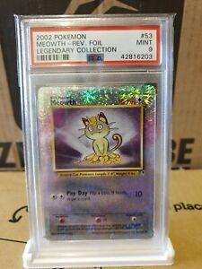 PSA 9 2002 Pokemon Meowth Reverse Foil Legendary Collection