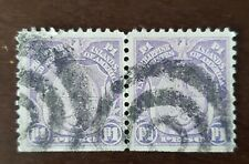 Philippines stamp American, Occupation used pair of 1 peso,.
