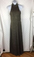 VTG 1980s Night Way Collections Dress Fully Lined Shimmering Gold & Black Sz 6
