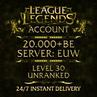 League of Legends Account LOL | EUW | Level 30 | 20.000+ BE | 20k+ | Unranked